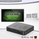 Миниатюрный 2-х канальный HDMI-сплиттер (1 вх. - 2 вых.)
